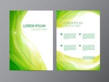 Dirigez l'insecte vert onduleux moderne abstrait d'écoulement, brochure, conception de couverture Photo stock