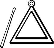 Dirigez l'instrument musical de percussion de cloche de triangle illustration de vecteur