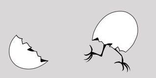 Dirigez l'oeuf de silhouette illustration libre de droits