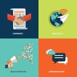Dirigez l'opération de recouvrement, le marketing et les concepts de finances Éléments de conception pour le Web et les applicati Image stock