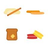 Dirigez la baguette cuite au four fraîche de petit déjeuner de casse-croûte de grain de seigle de pain de blé de boulangerie de r Photo stock