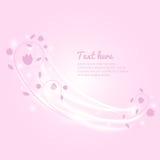 Dirigez la bannière florale, la cardez, la marquez, fond avec la lumière Bel insecte floral Couverture de lumière et de couleurs Photographie stock libre de droits