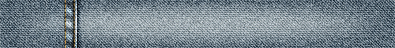 Dirigez la bannière horisontal de jeans avec piquer, illustration réaliste de tissu de denim, texture de denim illustration libre de droits