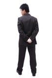 Dirigez la bille de fixation (d'homme d'affaires) dans le sien en arrière Photos libres de droits
