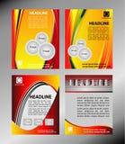 Dirigez la brochure d'entreprise constituée en société, l'insecte, la couverture de magazine et l'ensemble de calibre d'affiche Image libre de droits