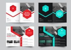 Dirigez la brochure de Bi-pli pour avec un endroit pour des photos et le hexagona illustration stock