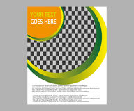 Dirigez la brochure de tract de disposition de couverture de livre de rapport annuel  Photo libre de droits