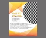 Dirigez la brochure de tract de disposition de couverture de livre de rapport annuel  Photos stock