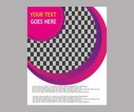 Dirigez la brochure de tract de disposition de couverture de livre de rapport annuel  Images libres de droits