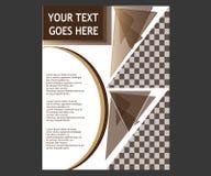 Dirigez la brochure de tract de disposition de couverture de livre de rapport annuel  Image stock