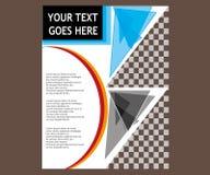Dirigez la brochure de tract de disposition de couverture de livre de rapport annuel  Photographie stock libre de droits