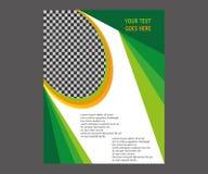 Dirigez la brochure de tract de disposition de couverture de livre de rapport annuel  Photographie stock