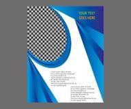 Dirigez la brochure de tract de disposition de couverture de livre de rapport annuel  Image libre de droits