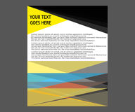 Dirigez la brochure de tract de disposition de couverture de livre de rapport annuel  Images stock