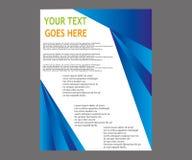 Dirigez la brochure de tract de disposition de couverture de livre de rapport annuel  Photo stock