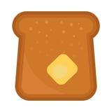 Dirigez la céréale délicieuse cuite au four de baguette de petit déjeuner de casse-croûte de grain de seigle de pain de blé de bo Photo stock