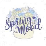 Dirigez la carte, bouquet de fleur de vacances avec des mots Photos stock