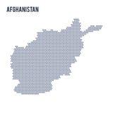 Dirigez la carte d'hexagone de l'Afghanistan sur un fond blanc Photos libres de droits