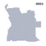 Dirigez la carte d'hexagone de l'Angola sur un fond blanc Image libre de droits
