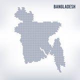 Dirigez la carte d'hexagone du Bangladesh sur un fond gris Images stock