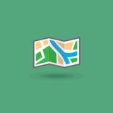 Dirigez la carte d'icône du secteur pour le voyage de touristes Carte de touristes de voyageurs d'illustration illustration libre de droits