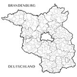 Dirigez la carte de l'État fédéral de Brandebourg, Allemagne illustration libre de droits
