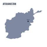 Dirigez la carte de l'Afghanistan a isolé sur le fond blanc Images stock