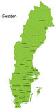 Dirigez la carte de la Suède Image stock