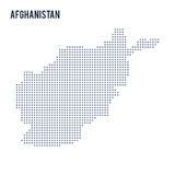 Dirigez la carte de pixel de l'Afghanistan a isolé sur le fond blanc Image stock