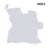 Dirigez la carte de pixel de l'Angola a isolé sur le fond blanc Photos libres de droits