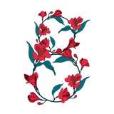 Dirigez la carte de voeux heureuse de jour de femme de conception florale d'illustration Image stock