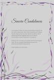 Dirigez la carte funèbre avec le motif floral abstrait élégant Image libre de droits