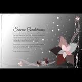 Dirigez la carte funèbre avec le motif floral abstrait élégant Images stock