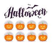Dirigez la carte plate de Halloween, publicité, bannière, affiche, plaquette, invitation de partie, conception de flayer Photos libres de droits