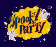 Dirigez la carte plate de Halloween, publicité, bannière, affiche, plaquette, invitation de partie, conception de flayer Images libres de droits