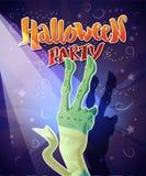 Dirigez la carte plate de Halloween, publicité, bannière, affiche, plaquette, invitation de partie, conception de flayer Photographie stock
