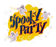 Dirigez la carte plate de Halloween, publicité, bannière, affiche, plaquette, invitation de partie, conception de flayer Images stock