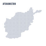 Dirigez la carte pointillée de l'Afghanistan a isolé sur le fond blanc Image stock