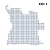 Dirigez la carte pointillée de l'Angola a isolé sur le fond blanc Photo stock