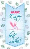 Dirigez la carte postale verticale sur le festin de Pâques Images stock