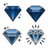 Dirigez la collection de diamants de tatouage dans le nouveau style d'école Image stock