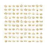 Dirigez la collection de la silhouette créative o de couronnes de roi et de reine illustration de vecteur