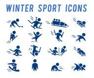 Dirigez la collection de silhouettes simples plates d'athlète d'isolement sur le fond blanc Images libres de droits