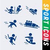 Dirigez la collection de silhouettes simples plates d'athlète d'isolement sur le fond blanc Image stock