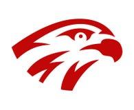 Dirigez la conception principale de mascotte de logo d'équipe de jeu de jeu de sport de faucon ou de faucon Signe sauvage américa Illustration de Vecteur