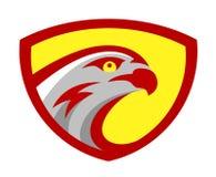 Dirigez la conception principale de mascotte de logo d'équipe de jeu de jeu de sport de faucon ou de faucon Signe sauvage américa illustration libre de droits