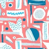 Dirigez la configuration sans joint Le papier déchiré a décoré des taches de peinture et d'encre Différentes formes avec les bord illustration stock
