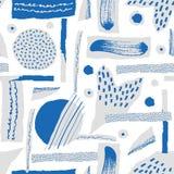 Dirigez la configuration sans joint Le papier déchiré a décoré des taches de peinture et d'encre Différentes formes avec les bord photographie stock libre de droits