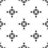 Dirigez la configuration sans joint Répétition géométrique Se noir et blanc Photo libre de droits