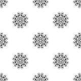 Dirigez la configuration sans joint Répétition géométrique Se noir et blanc Photos stock